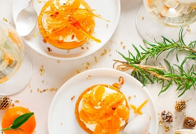 Mini tartes sablées aux amandes, crème de mascarpone et mandarines