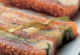 Pressé de poireaux au saumon fumé